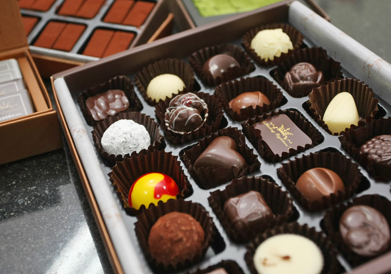 巧克力含有可可多酚;蘇義傑攝。