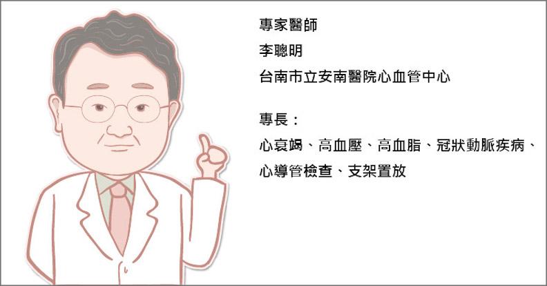 台南市立安南醫院心血管中心李聰明醫師。