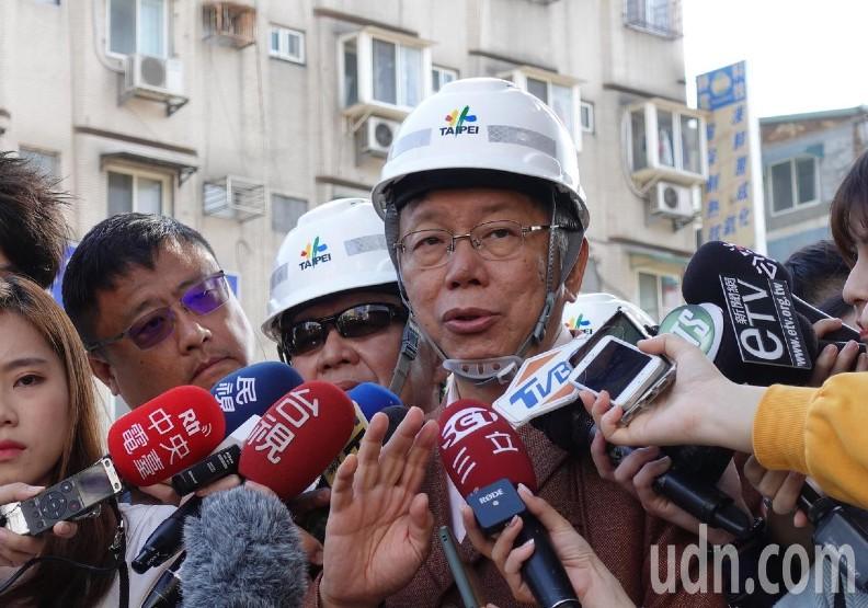 對於重慶南路高架橋開拆,台北市長柯文哲表示,柯文哲說,下雨確實會稍微不方便,不過好處是粉塵量也會比較小。