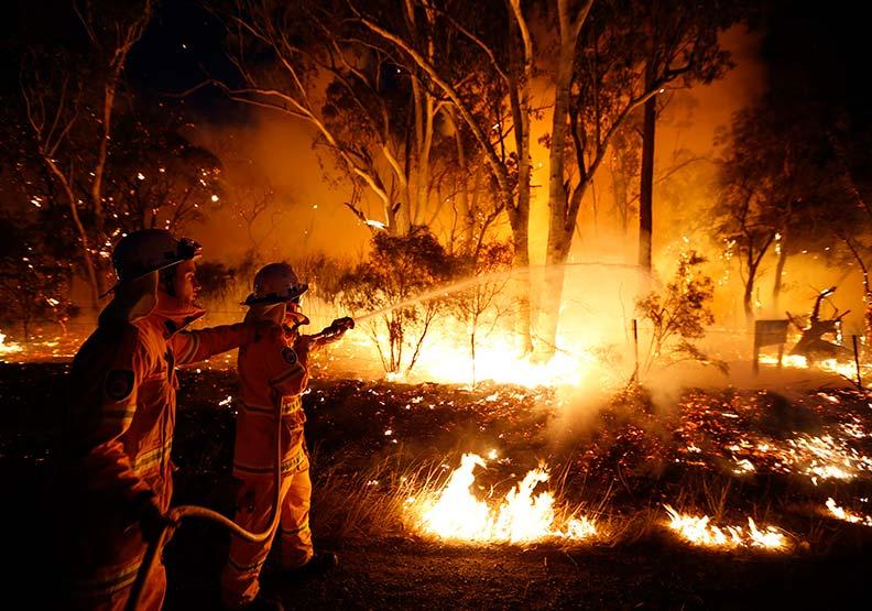自2019年9月起,澳洲大火延燒超過5個月。達志影像提供