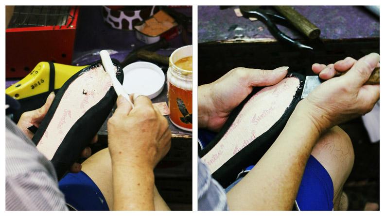 小花園繡花鞋皆由老師傅手工製作。拍攝:洪采姍