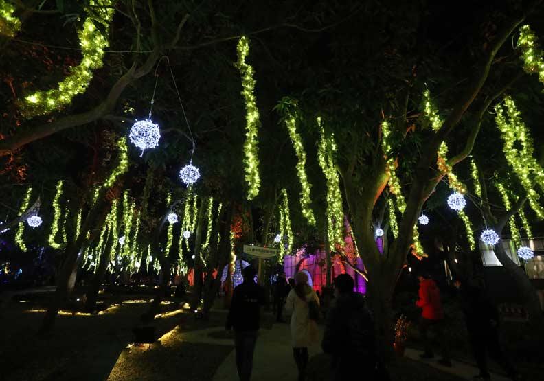 「里山禾樂」燈區。