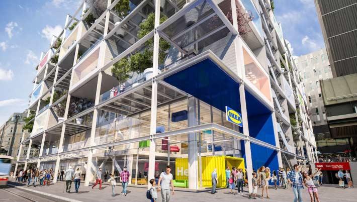 兼具環保與美觀的 IKEA 維也納分店。來源:IKEA 官網