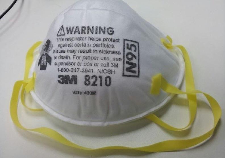 3M生產的N95口罩。取自維基百科