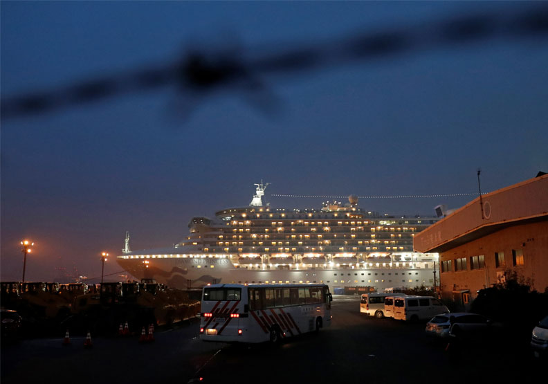 鑽石公主號曾於1月31日停靠基隆港。達志影像