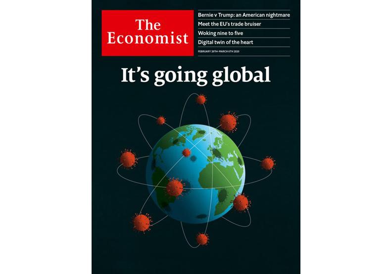 全球版封面。2020.2.29出版的《經濟學人》。取自《經濟學人》官網