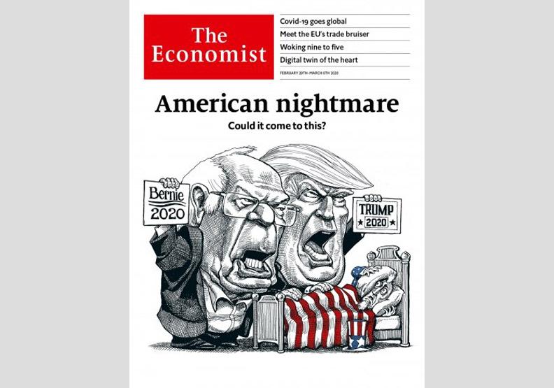 美國版。2020.2.29出版的《經濟學人》。取自《經濟學人》官網
