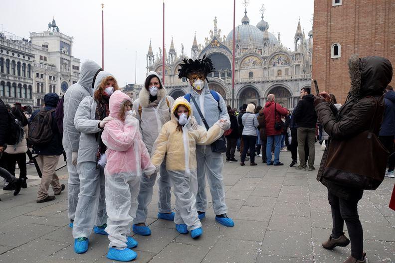 為防止疫情擴大,義大利陸續取消許多大型活動。(圖片來源:達志影像)