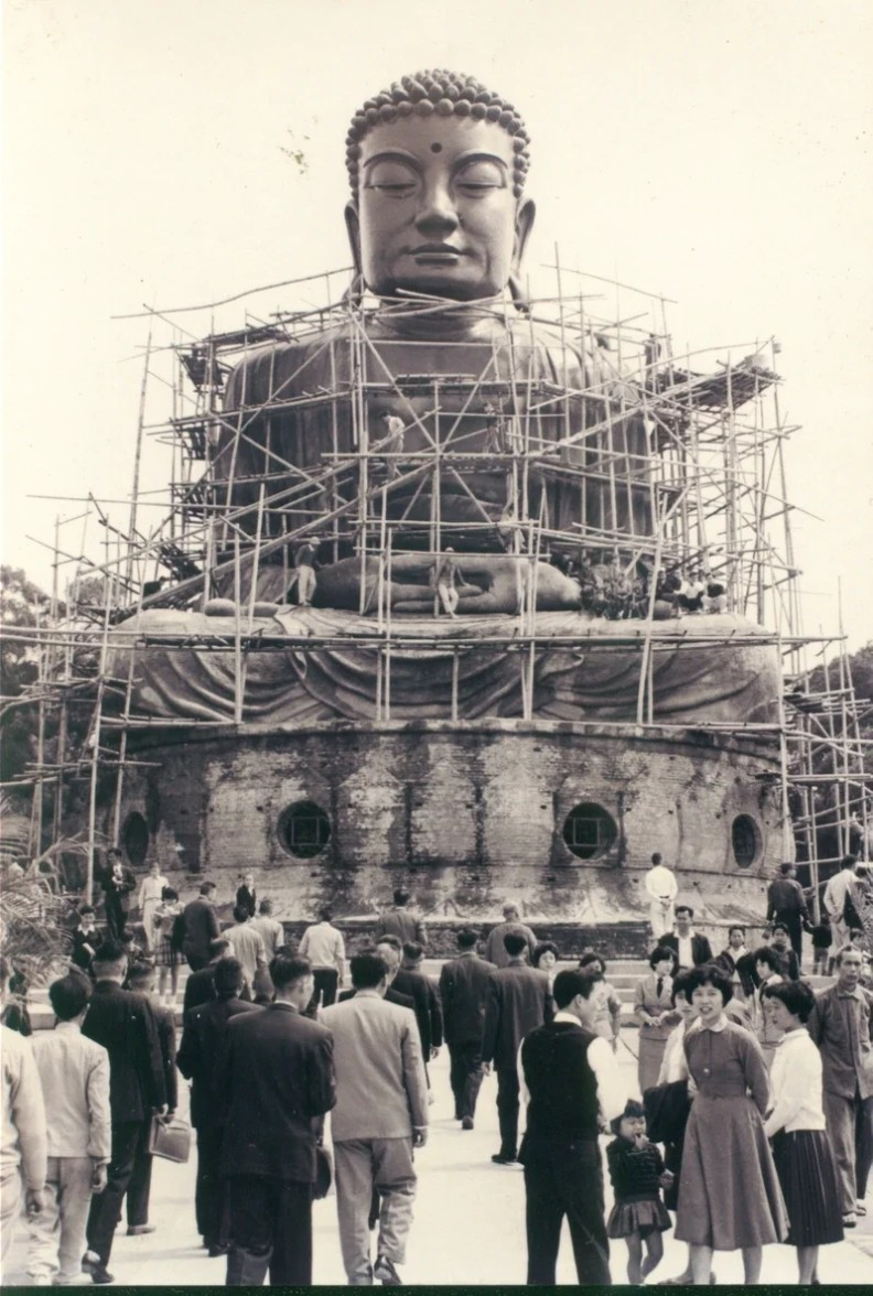 大佛建造過程約拍攝於民國49到50年間。彰化文化局提供