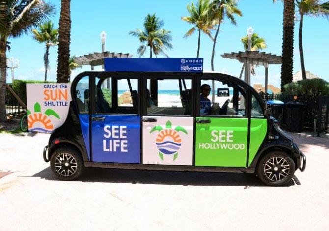 佛羅里達州好萊塢的品牌 Catch the Sun Shuttle。圖片來源:CITY OF Hollywood FLORIDA