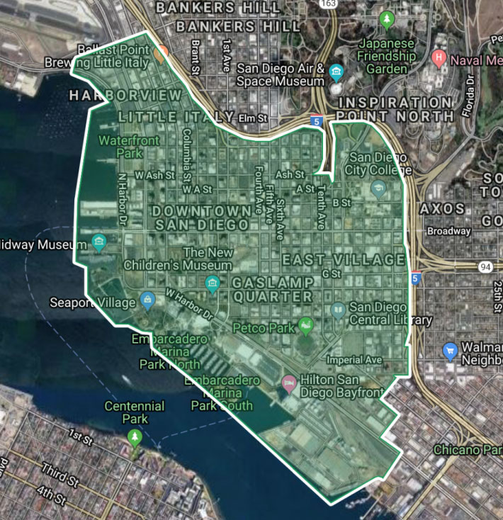 FRED 於聖地牙哥提供服務的範圍。圖片來源:Circuit