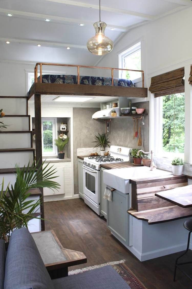 麻雀雖小、五臟俱全,迷你小屋一樣能達到舒適的家居環境。出自Country Living