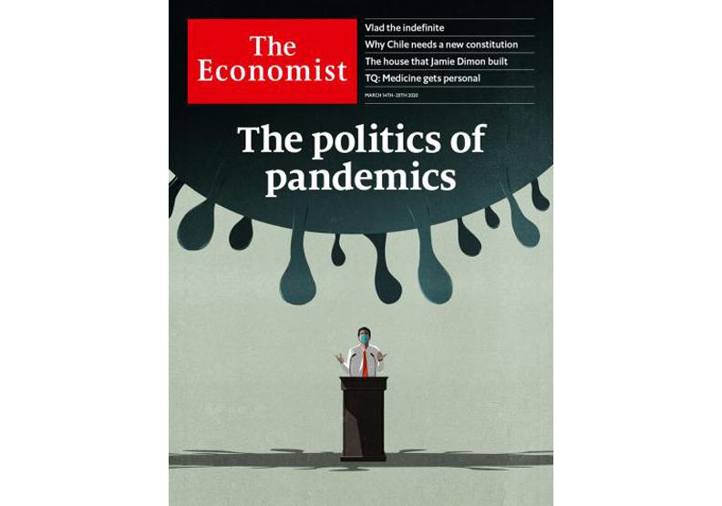 2020.314出版的《經濟學人》。取自《經濟學人》官網