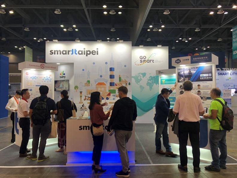 台北市的智慧城市實施成果常在國際舞台露臉,圖為去年九月韓國舉辦的「世界智慧城市展World Smart City Expo」。(圖片取自台北市資訊局)