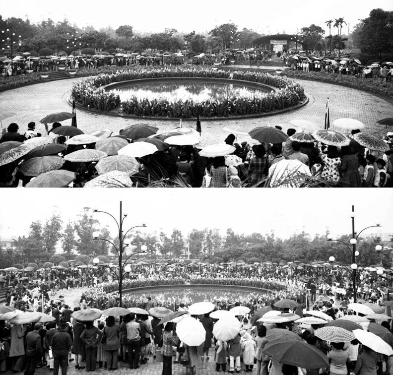 1973年4月4日,台北市各界慶祝民國62年兒童節遊園大會在榮星花園舉行。