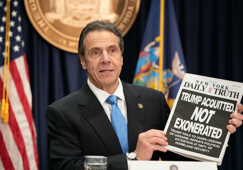 紐約州長郭謨向聯邦政府喊話要求支援呼吸器。取自@NYGovCuomo twitter