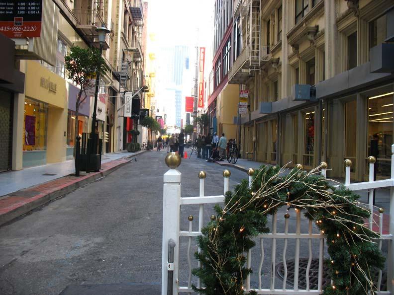 舊金山的少女街(Maiden Lane)。圖片取自Flickr, Orin Zebest, CC By 2.0