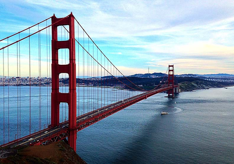 位於舊金山的金門大橋。圖片取自Flickr, pang yu liu, CC by 2.0