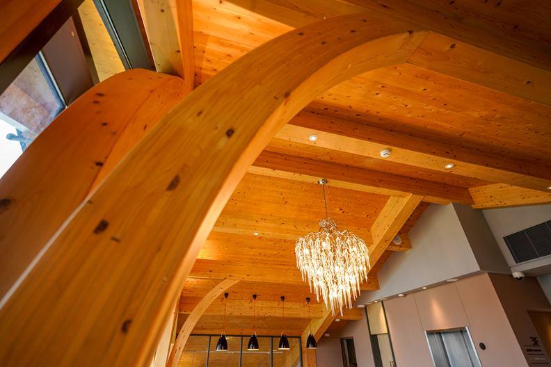 CLT工法不但環保,還能克服傳統木材不善防火、防蟲的劣勢,在設計上也讓建築師更好發揮。
