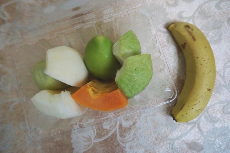 下午點心,水果餐盒。