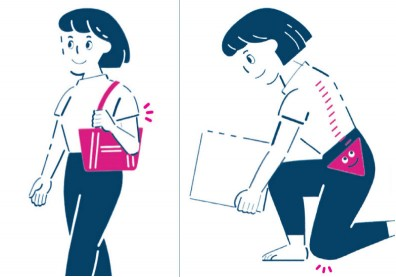 搬重物、背背包...生活中常見的 3 種常見動作,做對了才不累!