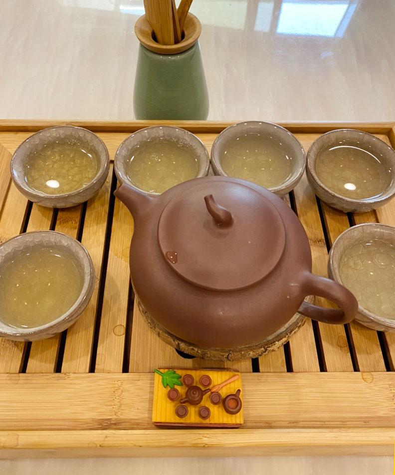 喝綠茶的養生效果最好;柯俊銘提供。