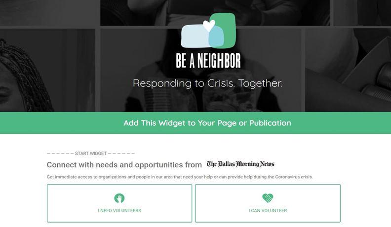 《達拉斯晨報》隨後開發的Be-a-Neighbor網路工具。