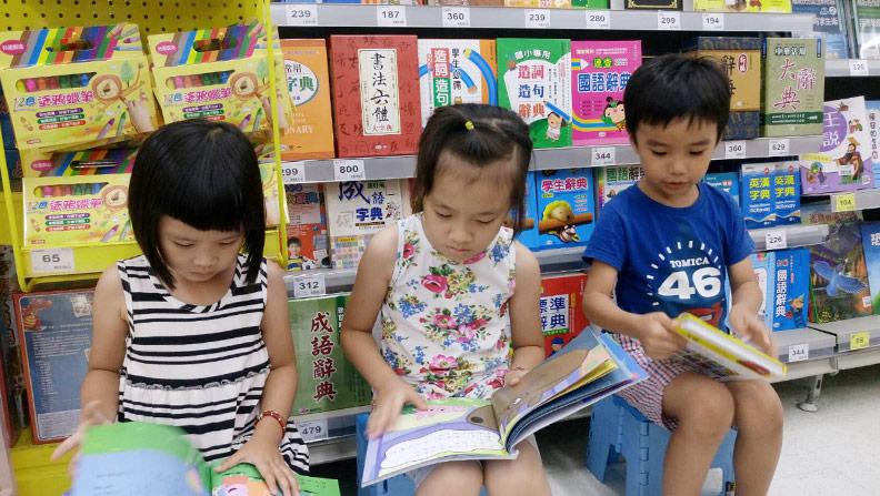閱讀能讓課業學習觸類旁通;柯俊銘提供。