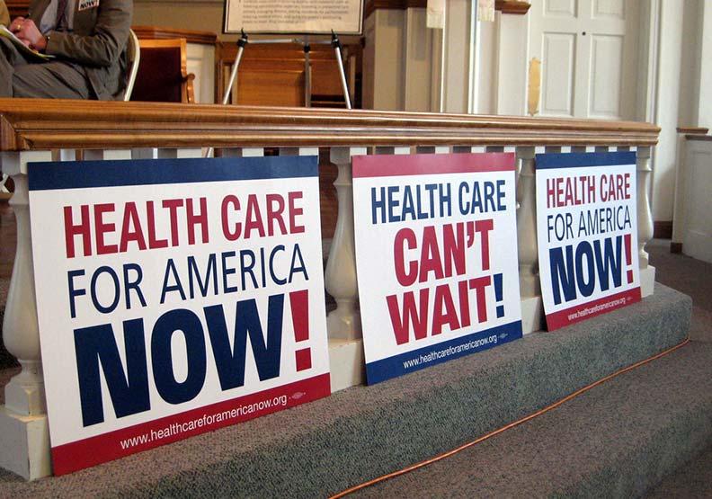 要求美國政府要建立健保制度。(資料照,取自flickr-ProgressOhio)