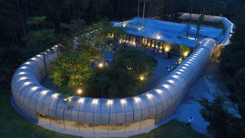 2018年落成的「勤美學—森大」,被譽為台灣森林美學的最新代表作。(圖片提供:自然洋行)