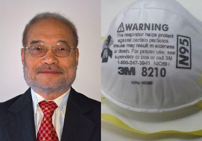 N95口罩發明人蔡秉燚。左圖取自tennessee.edu;右圖取自維基百科