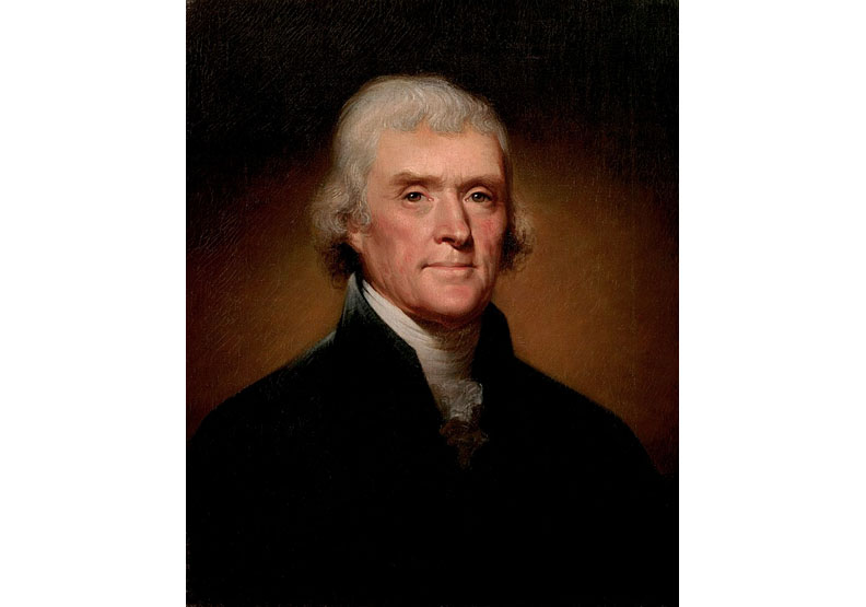 美國第三任總統傑佛遜。取自維基百科