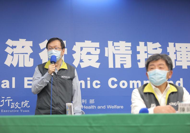 指揮中心發言人莊人祥;中央流行疫情指揮中心提供。