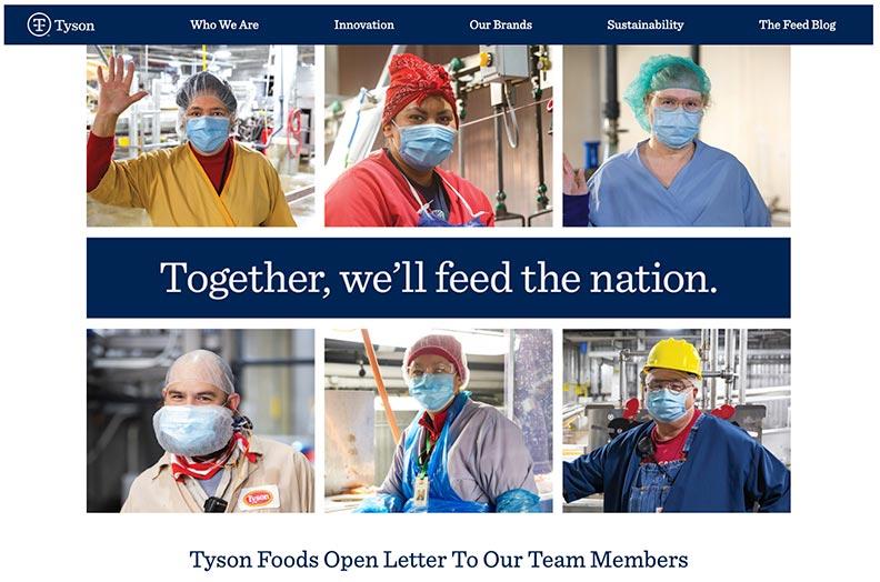 Tyson Foods是美國最有規模的牛肉廠,出口許多肉品到亞洲。取自Tyson Foods官網