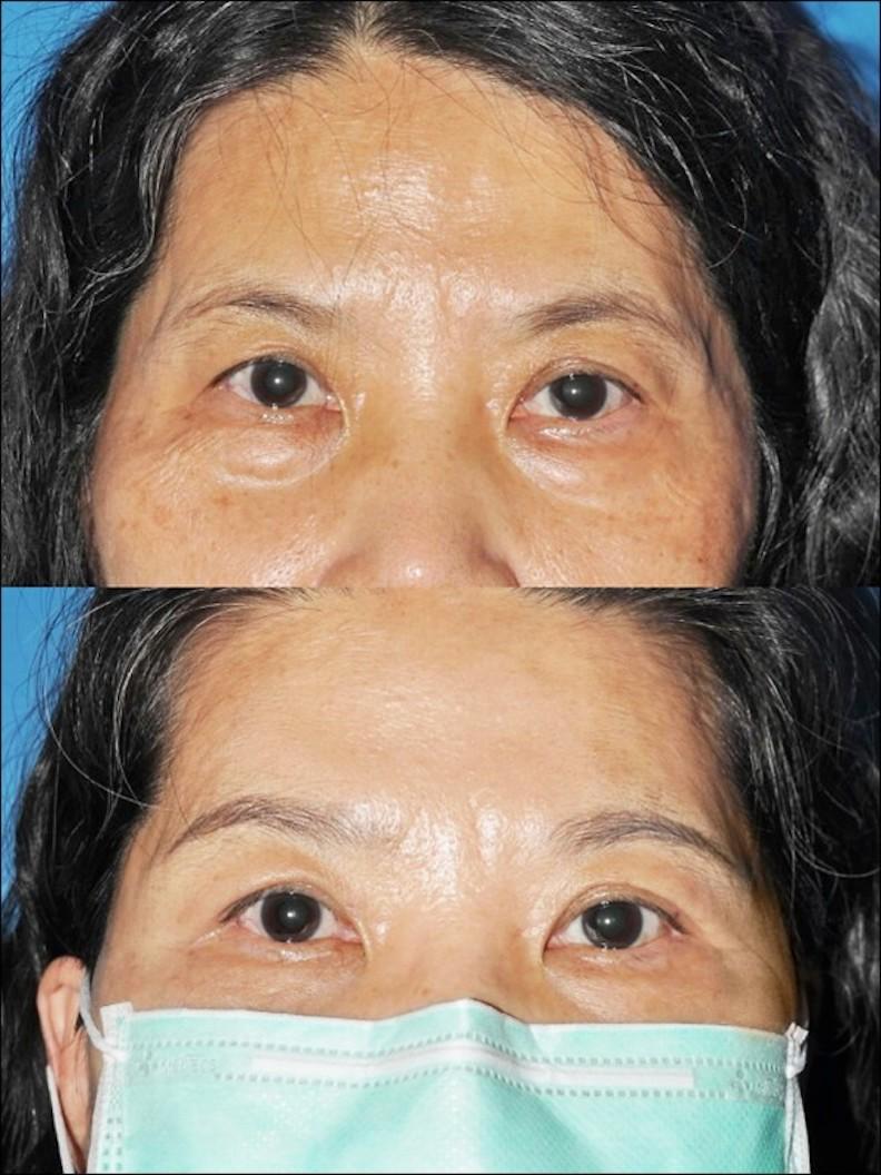 戴口罩時,畫眉可以修飾並點出輪廓;林靜芸提供。
