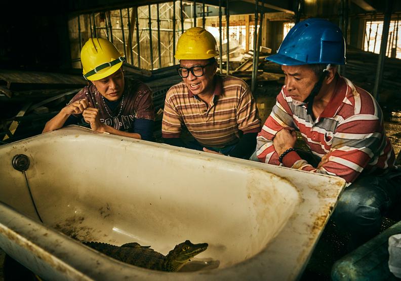 為求戲劇效果,導演特別在劇情中加入鱷魚。大慕影藝提供。