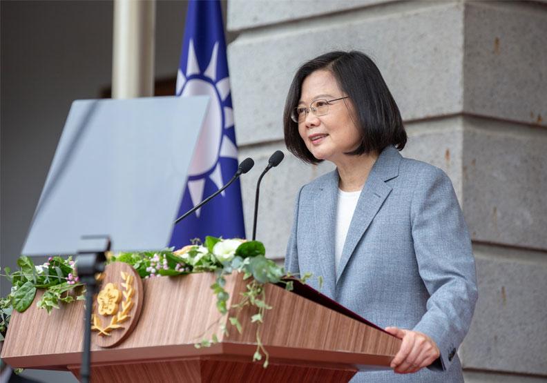 蔡英文於5月20日的就職典禮演說。取自總統府flickr