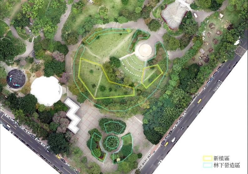 中和四號公園樂山區周圍為建構韌性都市林預定地。呂克勤攝,林試所提供