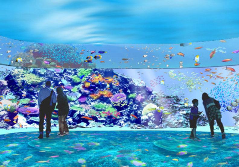 珊瑚潛行展區。圖片取自Xpark官網