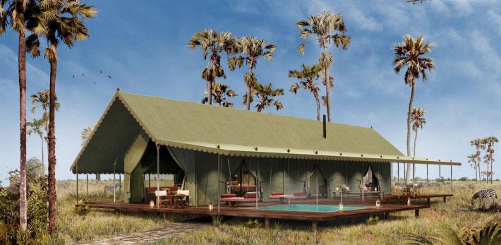 非洲波札那 Jack's Camp 擁有約百萬英畝的私人野生動物保護區。來源:Jack's Camp