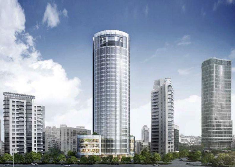 敦南金融大樓改建後的28層高樓示意圖