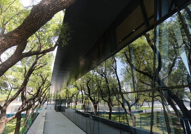 即將開幕的屏東縣立圖書館。