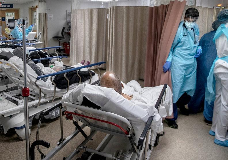 疫情未見趨緩,對美國的醫療體系造成極大負荷。