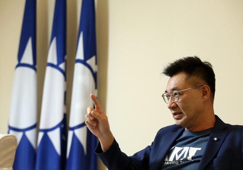 江啟臣認為,國民黨必須進行大改造,他稱之為「國民黨重設計」。