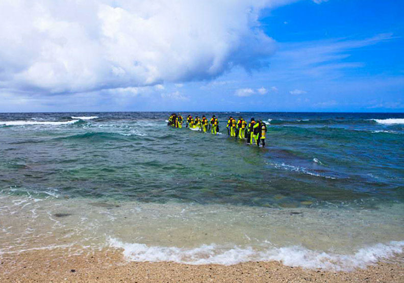 綠島是許多潛水愛好者的天堂;取自台東觀光旅遊網。