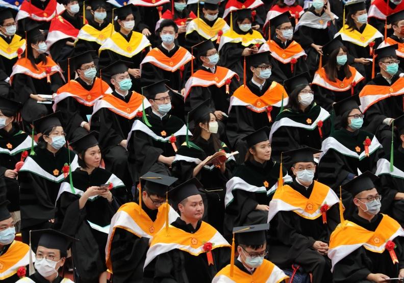 台大畢業典禮,僅為情境配圖。遠見資料照。