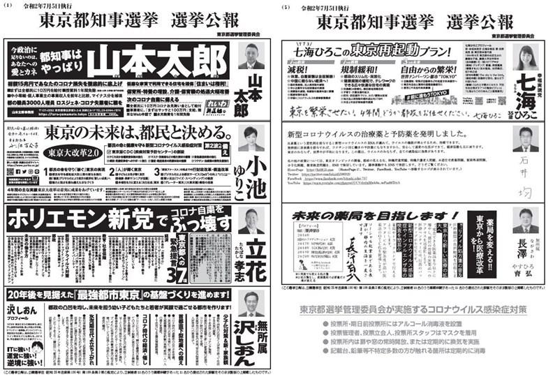 今年東京市民收到的選舉公報,版面可說是史上最豐富。(余承儒提供)