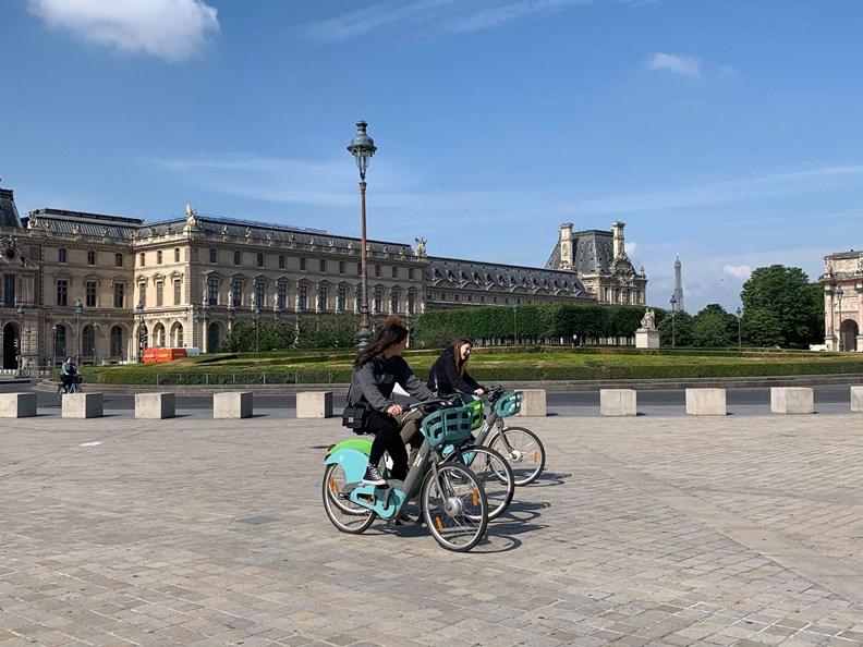 近來防疫期間,巴黎的公共單車使用率飆上新高!(攝影:趙偉婷)