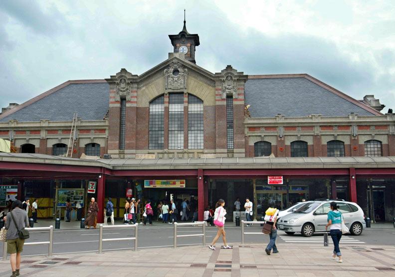 舊台中車站。