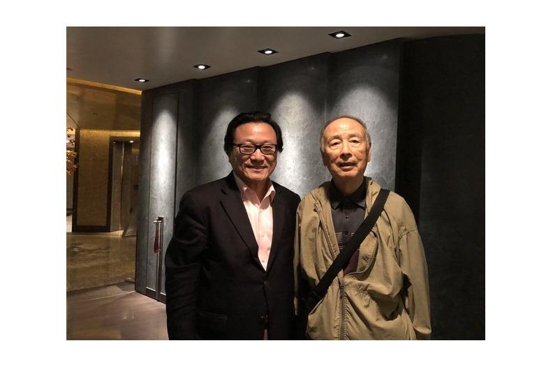 2018年10月,陳鼓應和作者在台北。(周天瑋提供)